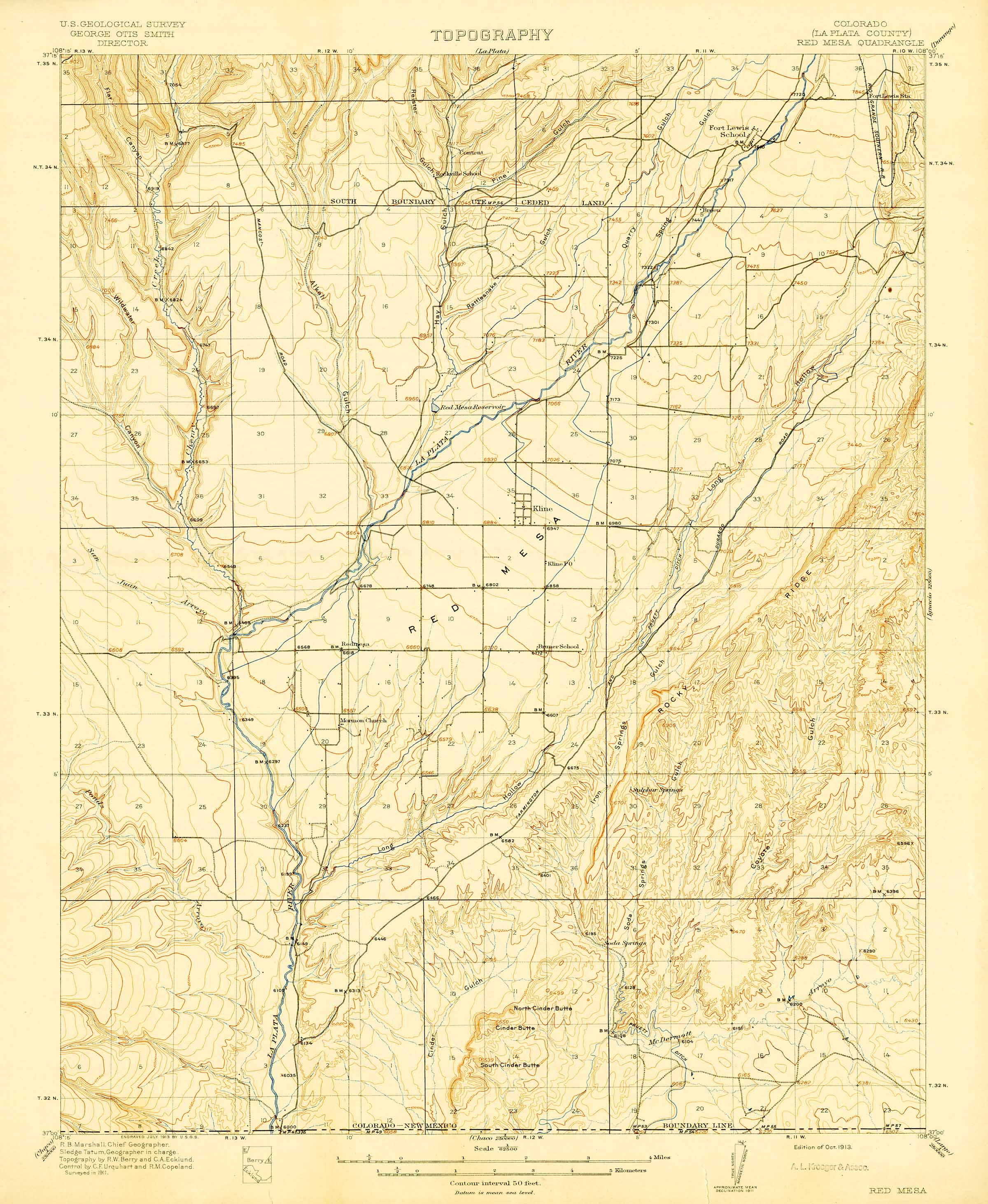 Collection c 007 usgs topographic map of red mesa co at the this map forms part of the southwest us geological survey maps collection collection c 007 at the center of southwest studies publicscrutiny Images