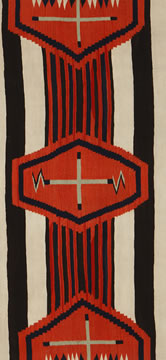 Red, black and white, Native American Rug